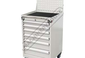 TCW-900NP Industrial Mobile Tooling Cabinet with Backing Panel 565 x 580 x 1400mm 100kg per Drawer