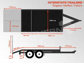 Plant Trailers 4.5 TON Moffett Forklifts Tailgater 4500kg Trailers ATTPT - picture2' - Click to enlarge