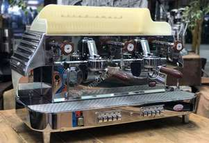 ELEKTRA BARLUME 2 GROUP ESPRESSO COFFEE MACHINE- CREAM CAFE RESTAURANT RETRO LATTE COFFEE CART