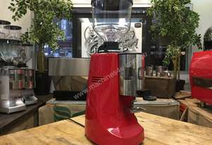 MAZZER ROBUR AUTOMATIC CUSTOM RED ESPRESSO COFFEE GRINDER COFFEE BEAN MACHINE