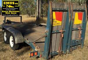 St George Beaver Tail Plant Trailer with Ramps. EMUS NQ