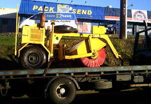 towed diesel road broom  3cyl yanmar , ex QLD council , remote controls