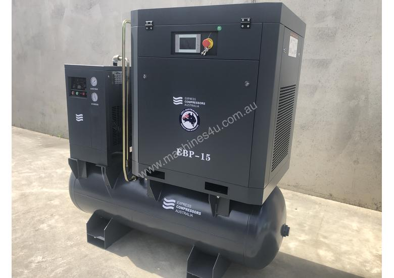 60 cfm screw compressor with tank and dryer