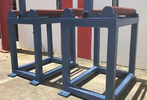 Heavy Duty Roller Conveyor & Stands, 620mm Wide x 500mm Long.