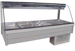 Roband CFX24RD Curved Glass Cold Food Bar - Piped & Foamed Only