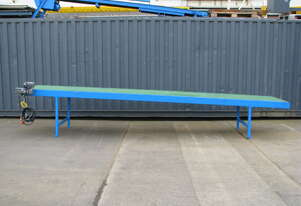 Long Motorised Belt Conveyor Variable Speed - 5.6m long