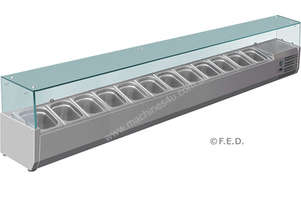 F.E.D. VRX2500/380 DELUXE Pizza / Sandwich Bar Prep Top - 2500mm