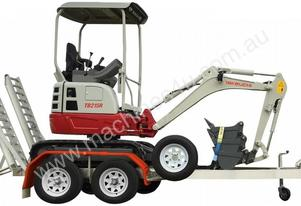 Takeuchi TB215R excavator with Trailer