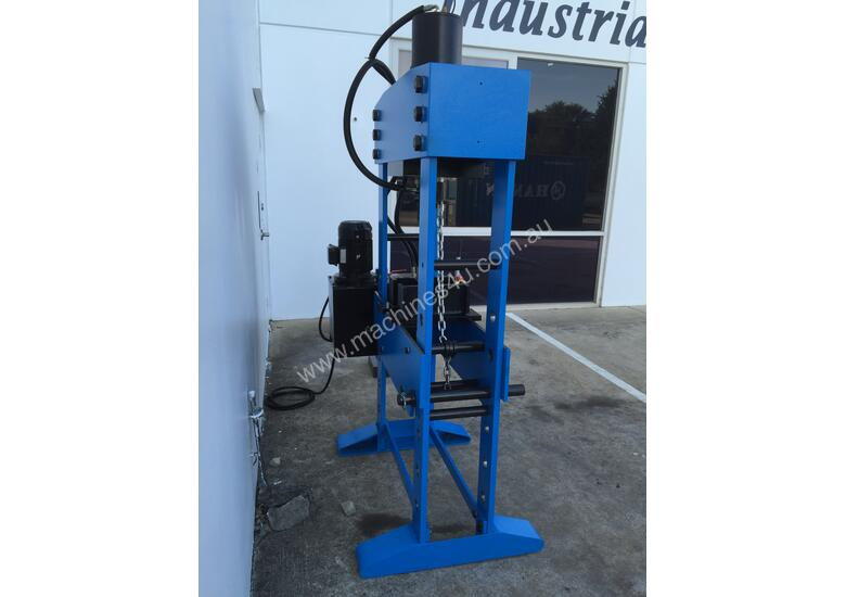 160Ton Fixed & Sliding Head Industrial Shop Press - HUGE 1250mm Wide Frame