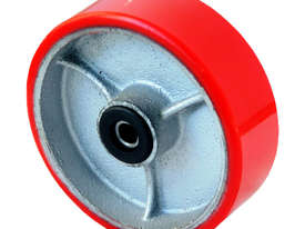 52160 - 100MM PU MOULDED CAST IRON REPLACEMENT WHEEL - picture0' - Click to enlarge