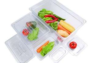 F.E.D. JW-P194 Clear Poly 1/9 x 100 mm Gastronorm Pan