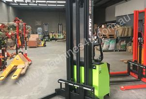 1.6T Electric walkie stacker lift height 3600mm with power steering
