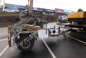 3ton self loading cable drum trailer