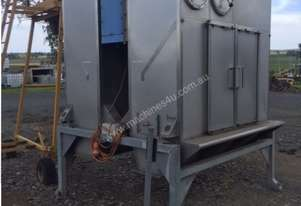 Stainless tip hoppers ( twin ) with dust collection, loadcells and feed Augers
