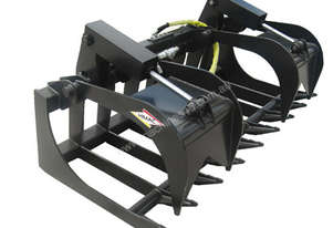 NEW : BRUSH GRAPPLE GRAB BUCKET SKID STEER TRACK LOADER ATTACHMENT FOR HIRE