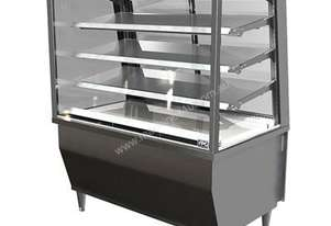 FPG 5CA24-SQ-FF-I 5000 Series Square Controlled Ambient Fixed Front Food Cabinet - 2400mm