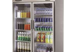 Skipio SRT45-2G Reach In Refrigerator Two Glass Door