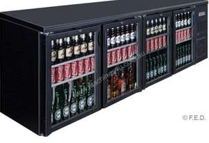 F.E.D. BC4100G Four Door BLACK MAGIC Bar Cooler