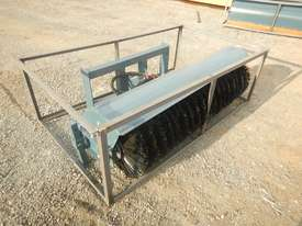 Unused 1800mm Hydraulic Sweeper to suit Skidsteer Loader - 10419-32 - picture0' - Click to enlarge