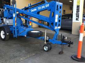 RARE Genie TZ34/20 Trailer Mounted Cherry Picker, with Rotating basket.  - picture0' - Click to enlarge
