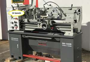 51mm Spindle Bore Metal Lathe, 1000mm Bed, 2 Speed Motor (16 Speeds) - Feature Packed