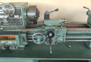 Hercus 260 Geared 9 Speed Metric Lathe with tooling and cabinet