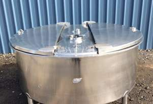 1,100ltr single skin stainless steel tank, Milk Vat**WE ARE OPEN DURING LOCKDOWN**