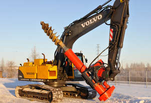 EXCAVATOR MOUNTED PILING DRILLS