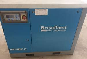 2018 Broadbent Screw Air Compresor Industrial 15kw/20hp under warranty