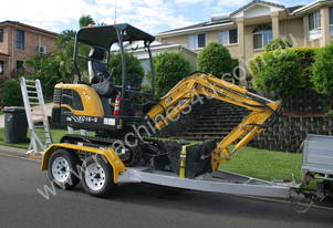 Yuchai YC15-8 Mini Excavator + Trailer Drive Away