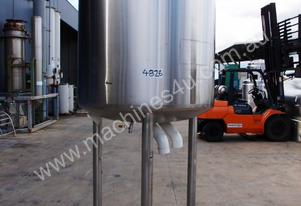 Stainless Steel Jacketed Tank - Capacity 1,000 Lt.