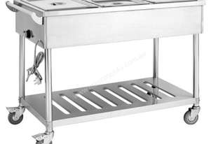 F.E.D. BMT4H Four Pan Heated Food Service Cart