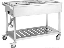 Four Pan Heated Food Service Cart