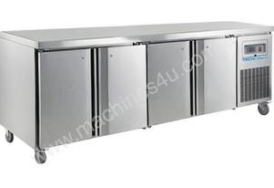 F.E.D. TECNOtherm HEAVY DUTY 4 Door Gastronorm Work Bench Fridge SW4100TN