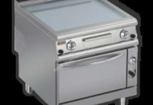 Baron 90FTTF/G805 Smooth Chromed Gas Griddle with Gas Oven