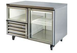 Anvil UBG1200 Glass Door Under Bench Fridge