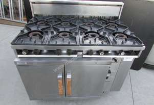 8 burner gas top and  oven cook top Commercial