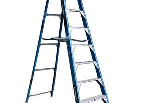 Bailey Fibreglass & Aluminum Step Ladder 3.0  Meter Single Sided Industrial 150kg SWL
