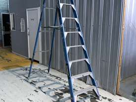 Bailey Fibreglass & Aluminum Step Ladder 3.0  Meter Single Sided Industrial 150kg SWL - picture0' - Click to enlarge