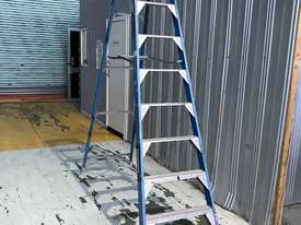Bailey Fibreglass & Aluminum Step Ladder 3.0  Meter Single Sided Industrial 150kg SWL - picture6' - Click to enlarge