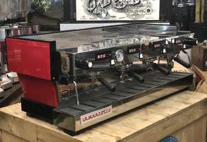 LA MARZOCCO LINEA CLASSIC 4 GROUP RED ESPRESSO COFFEE MACHINE WITH CHRONOS TOUCHPADS