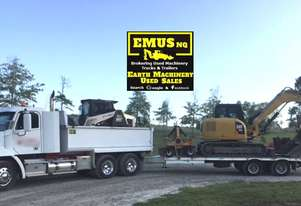 Combo - Freightliner, Tag Trailer, Cat 308E Excavator, Terex PT110. EMUS TS435