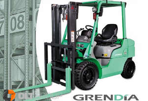 New Mitsubishi 2.5 Tonne Diesel Forklift 4000mm Lift Height 2 Stage Mast DELIVERY AUS WIDE