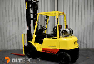Hyster H2.50DX 2.5 Tonne Forklift 2 Stage 4510mm Mast LPG Digital Load Indicator