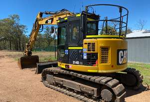 CAT 314D CR QC 14T EXCAVATOR PUSH BLADE, RUBBER PADS, HEIGHT LIMITER, Wired 4 TRIMBLE GPS