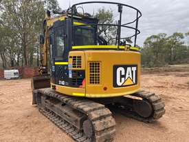 CAT 314D CR QC 14T EXCAVATOR PUSH BLADE, RUBBER PADS, HEIGHT LIMITER, Wired 4 TRIMBLE GPS - picture2' - Click to enlarge