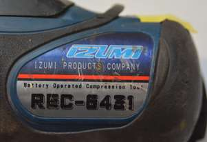 IZUMI REC 6431 12 tonne shell-die crimper 14V battery operated compression tool
