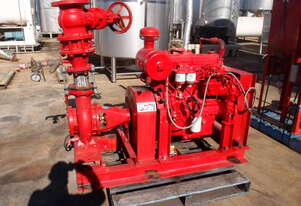 Diesel Fire Fighting Centrifugal Pump, IN: 125mm Dia, OUT: 100mm Dia