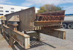 Jaques Vibrating feeder with grizzly section