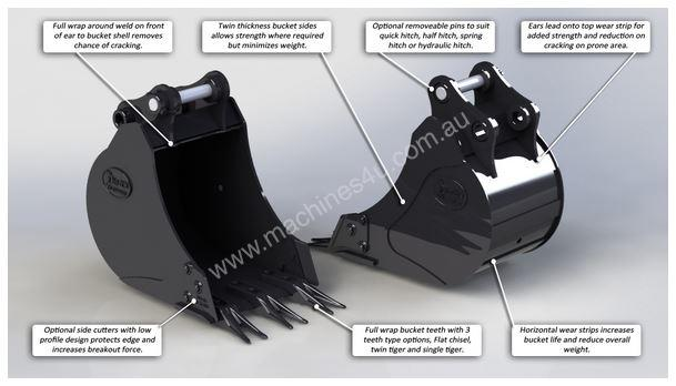 NEW DIG ITS 250MM TRENCHING BUCKET SUIT ALL 1-2T MINI EXCAVATORS